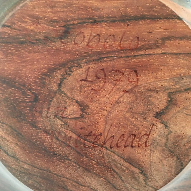 Wood Hand Carved Cocobolo Wood Bowl For Sale - Image 7 of 11