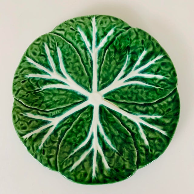 Set of 4 Vintage Williams Sonoma Green Cabbage Plates. Note that the colors vary slightly amongst the plates, as shown in...