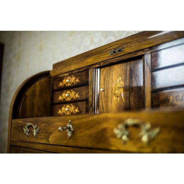 Elm Secretary Desk, circa the 19th Century For Sale - Image 4 of 13