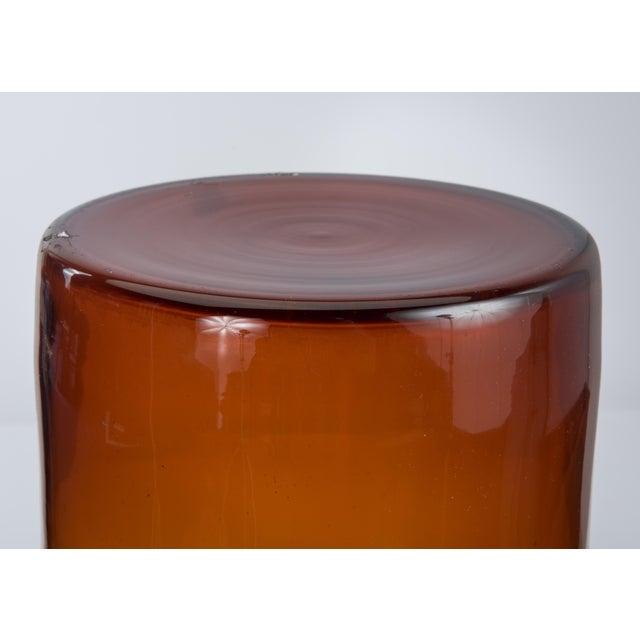 "20"" Otto Brauer Gulvvase Floor Vase Kastrup Holmegaard Denmark Brown Amber Glass Vase Marked 1960s For Sale - Image 10 of 13"