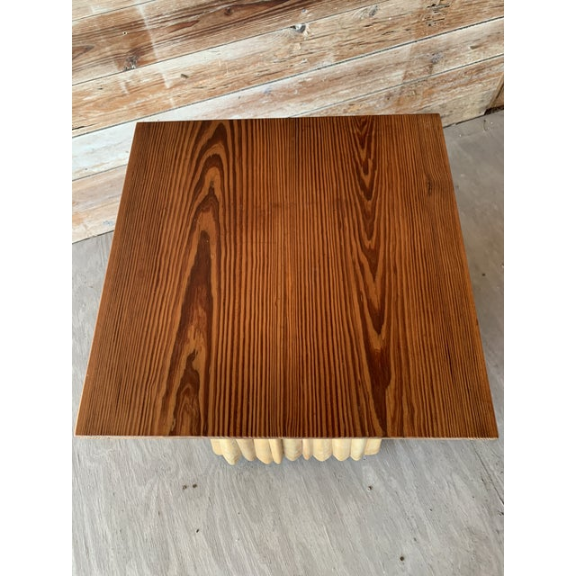 2000 - 2009 Florida Studio-Craft Pedestal Table For Sale - Image 5 of 7