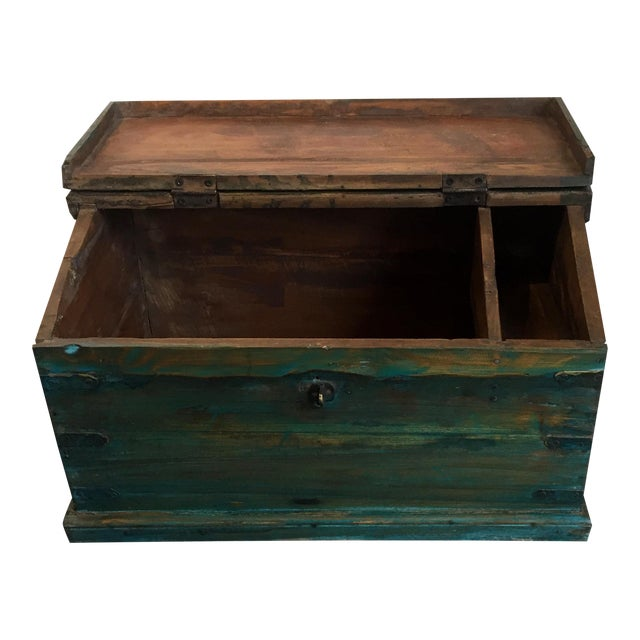 Antique Child's School Desk Box For Sale