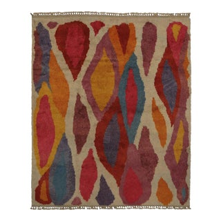 New Colorful Contemporary Tulu Shag Rug With Postmodern Memphis Orphism Style For Sale