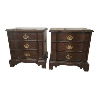 Harden Solid Cherry Bedside Tables - A Pair For Sale