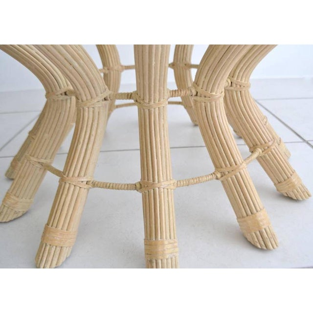 Sculptural Midcentury Rattan Cocktail Table For Sale In West Palm - Image 6 of 8