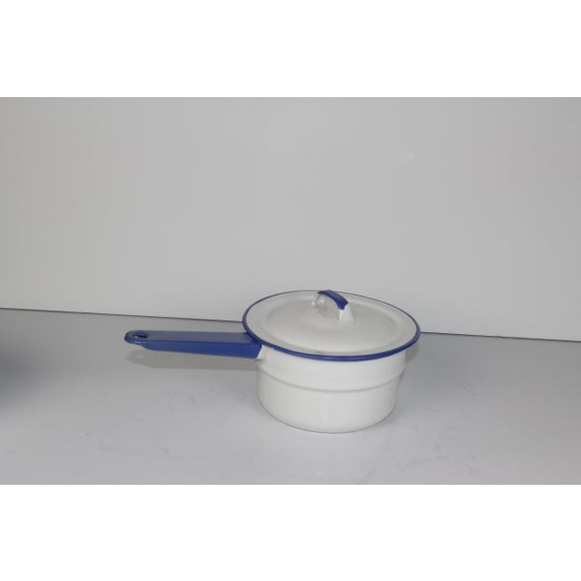 French Enamel Pot - Image 5 of 7