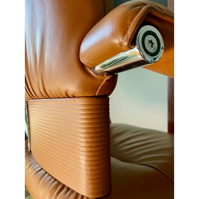 Brown Mario Bellini Executive Swivel Chair in Leather For Sale - Image 8 of 13
