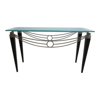 Neo Classical Metal Draped Federal Sofa Hall Foyer Table Server Console