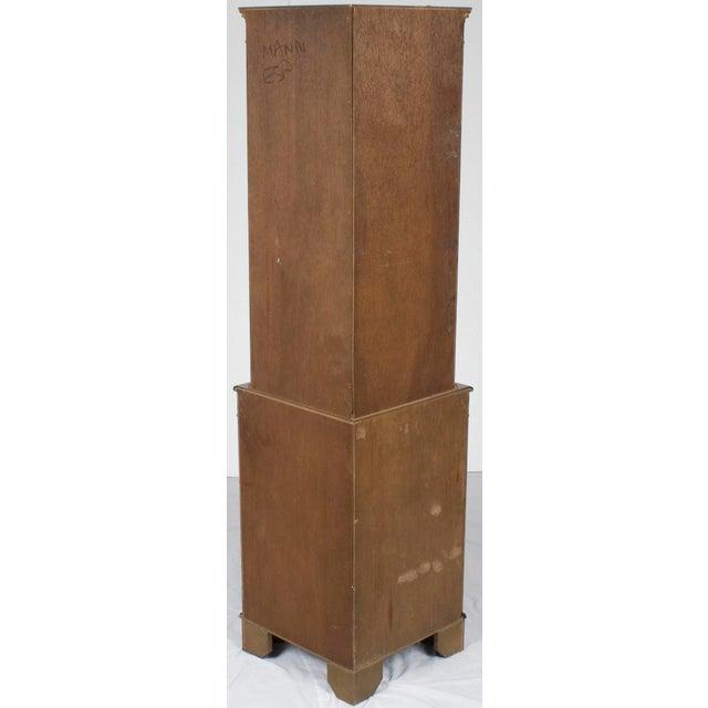 Georgian 1960s Georgian Mahogany Narrow Bow Front Corner Cabinet Cupboard For Sale - Image 3 of 12
