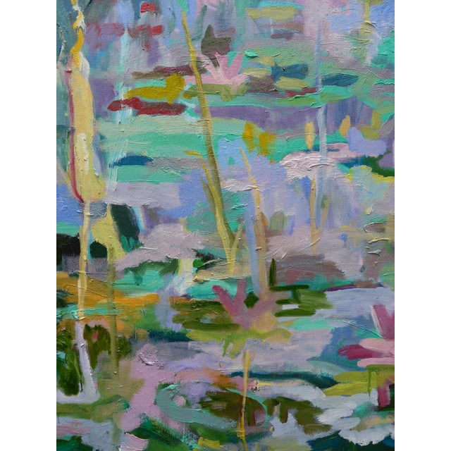Monumental Lily Pond Oil Painting at Monet's Garden For Sale - Image 10 of 12