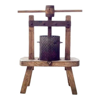 19th Century French Wooden Wine Press For Sale