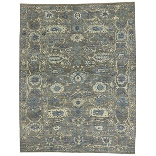 """Neoclassical Style Persian Sultanabad Area Rug - 10' X 8'7"""" For Sale"""