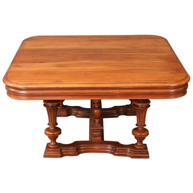 Antique French Henry II Walnut Pub Coffee Table - Image 5 of 7