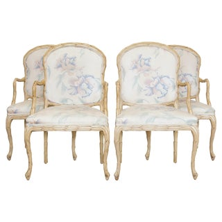 Carved Leaves Armchairs by Century, S/4 For Sale