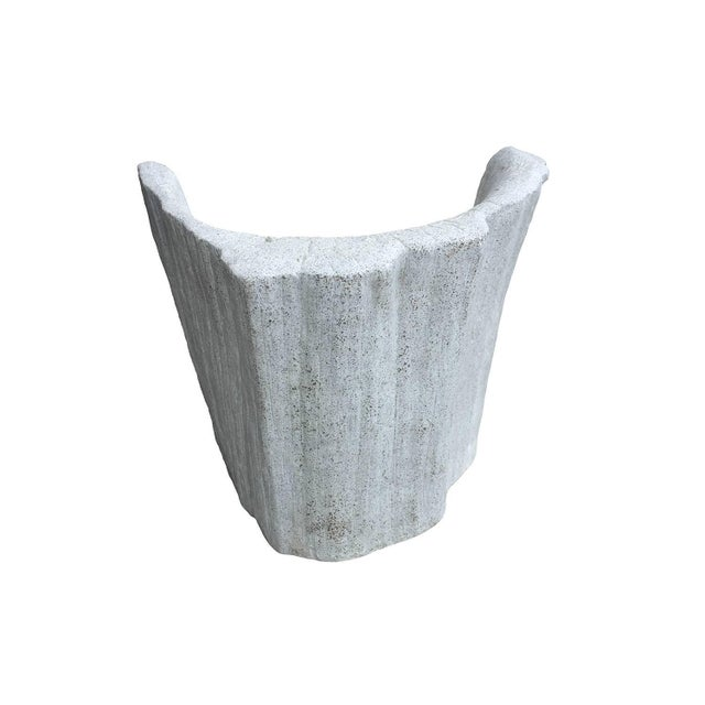 """Not Yet Made - Made To Order Zachary A. Design Natural Concrete Finish Cast Resin """"Acacia"""" Chair For Sale - Image 5 of 8"""
