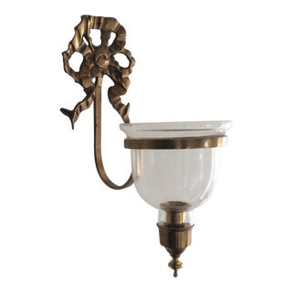 Vintage Brass Bow Wall Sconce
