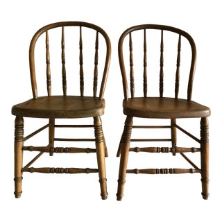 Late 19th Century Bowback Windsor Chairs - a Pair For Sale