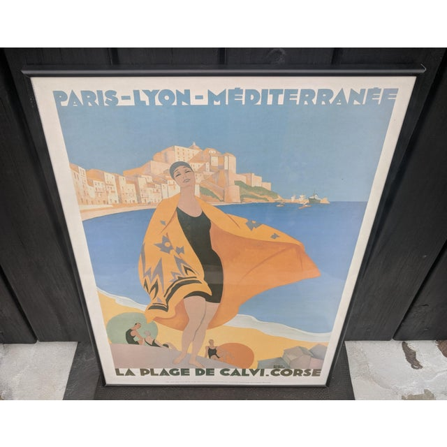 Vintage French Advertisement Illustration by Roger Broders Framed For Sale In Charlotte - Image 6 of 9
