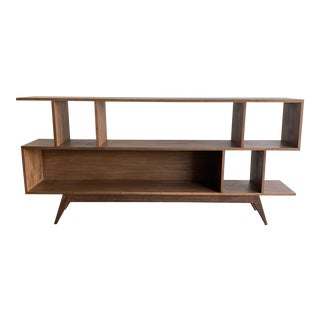 Sculptural Bookcase in Walnut For Sale