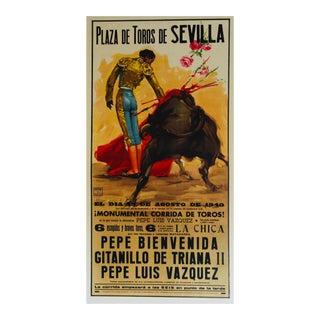 Vintage Spanish Bullfight Poster
