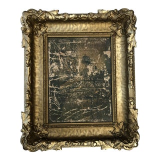 Antique Wood and Plaster Romantic Frame 15x18 For Sale