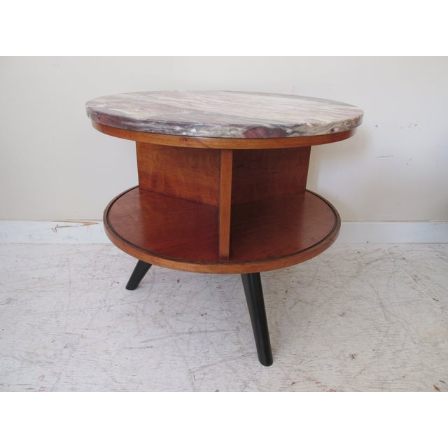 Round Side Tables with Marble Tops - A Pair - Image 5 of 8