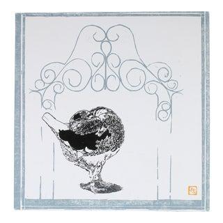 """""""Holle Cropper"""" Chicken Linocut Print, 2005"""