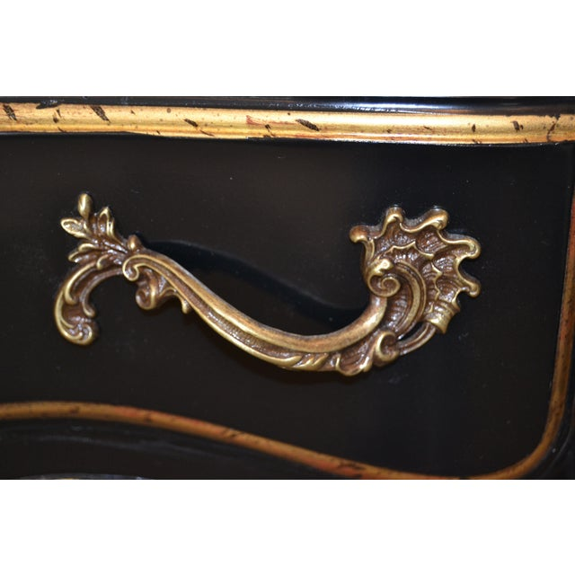 In the Manner of French Louis XV Writing Desk With Stool by Drexel For Sale In Miami - Image 6 of 13