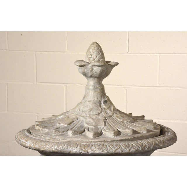 Pair of Grand Neoclassical-style Patio Urns - Image 7 of 10