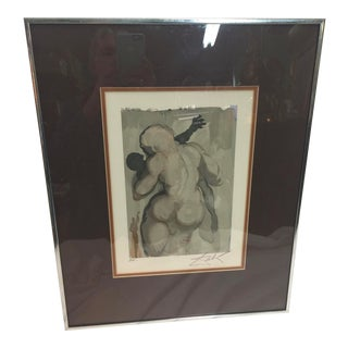 Salvador Dali Lithograph Signed Artist Proof the Dead by Violence For Sale