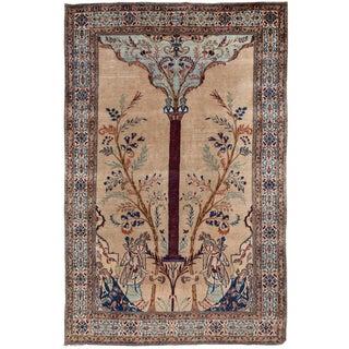 "Antique Persian Tabriz Rug, 4'1"" X 6'5"" For Sale"