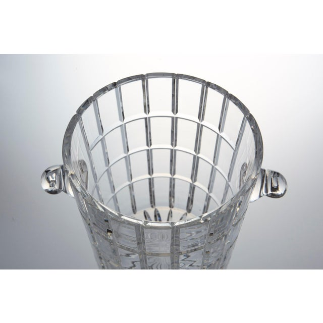 French Cut Crystal Wine Cooler or Champagne Ice Bucket With Handles, Circa 1960s For Sale In New York - Image 6 of 9