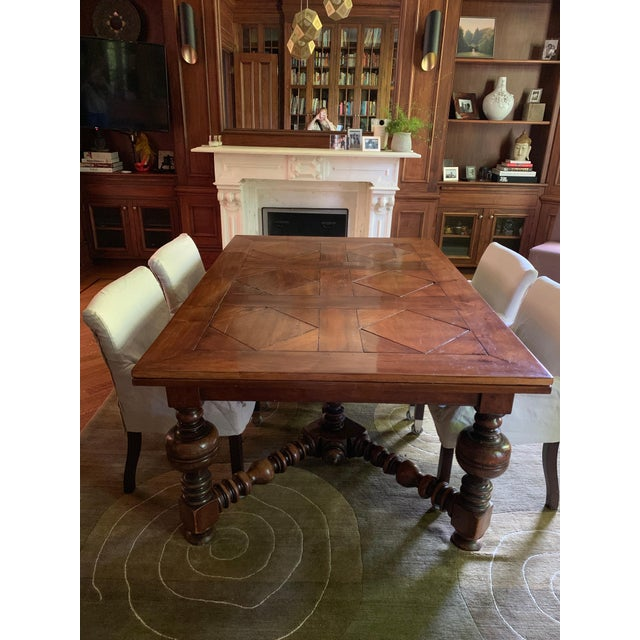 English Traditional 19th Century French Draw Leaf Table For Sale - Image 3 of 9
