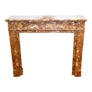 19th Century Louis XVI Breche D'alep Antique Marble Mantel