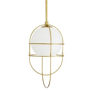 Arteriors Modern Brass Finished Dolores Pendant Light For Sale
