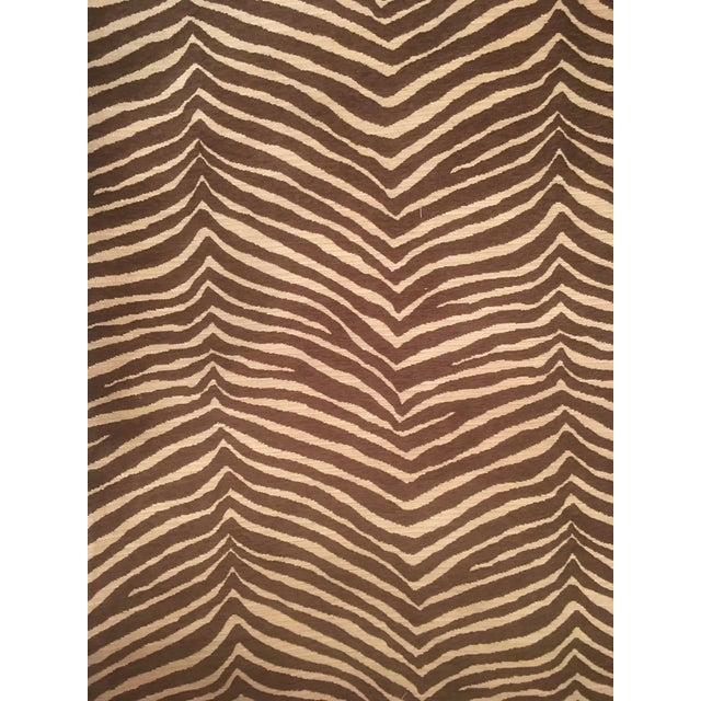 """2010s """"Pelt Zebra"""" by Fabricut Fabric by the Yard For Sale - Image 5 of 6"""