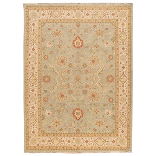 """Contemporary Indian Peshawar Rug, 10' X 13'8"""" For Sale"""