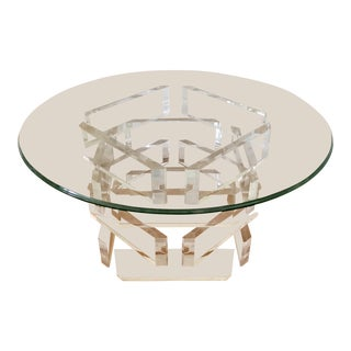 Mid-Century Stacked Lucite Cocktail Table For Sale