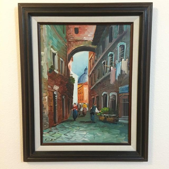 """Roma"" Vintage 1985 Original Oil Painting - Image 2 of 6"