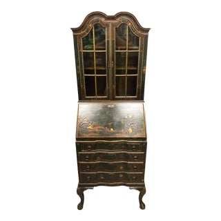 19th Century English Japanned Secretary For Sale