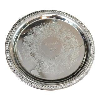Harvard Silver Tray
