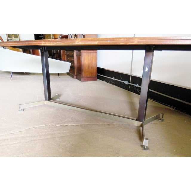Metal 20th Century Italian Techno Style Dining Table For Sale - Image 7 of 9