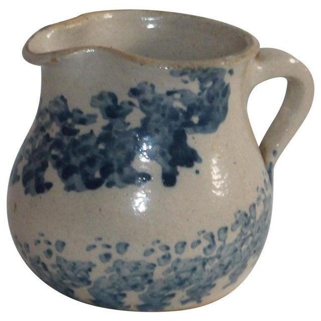 Cream 19th Century Sponge Ware Pottery Cream Pitcher For Sale - Image 8 of 8