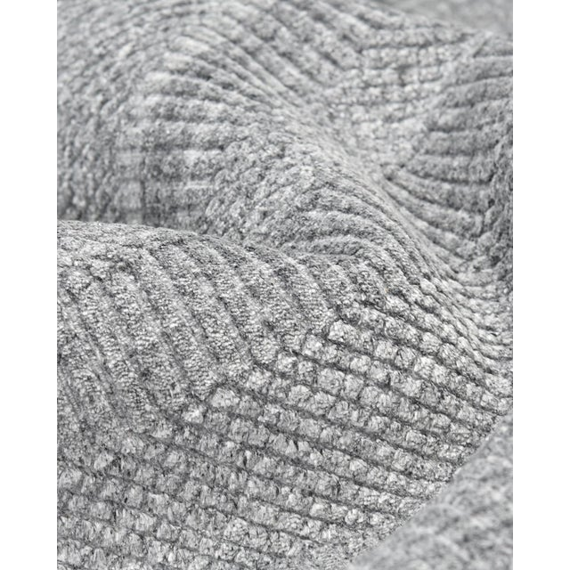 Textile Sanam, Contemporary Solid Hand Loomed Area Rug, Gray, 8 X 10 For Sale - Image 7 of 9