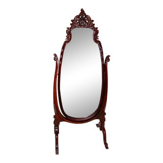 Late 19th Century Cheval Mirror in Louis XV Style For Sale