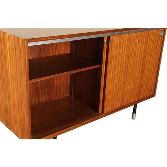 Industrial 1960s Mid-Century Modern George Nelson for Herman Miller Teak Sideboard/Cabinet For Sale - Image 3 of 5