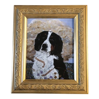 Contemporary Bernese Mountain Dog Print by Judy Henn For Sale