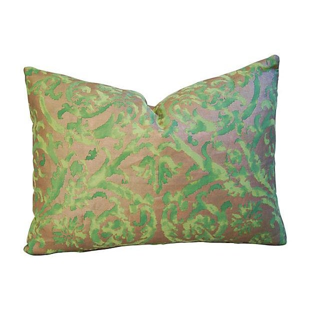 Designer Italian Fortuny Farnese Pillows - A Pair - Image 3 of 7