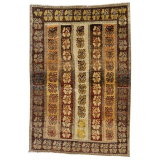 20th Century Turkish Oushak Accent Rug - 3′5″ × 4′11″ For Sale