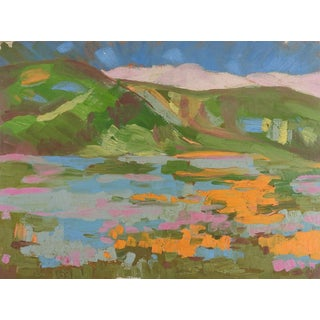 Colorful Fauvist Landscape Painting For Sale